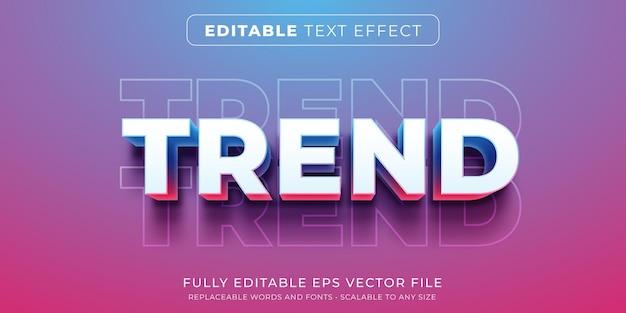 현대적인 트렌드 스타일의 편집 가능한 텍스트 효과