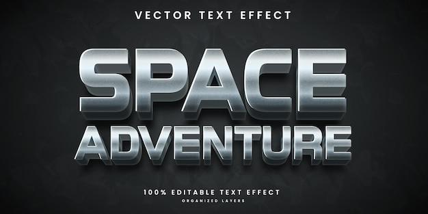 우주 모험 스타일의 편집 가능한 텍스트 효과