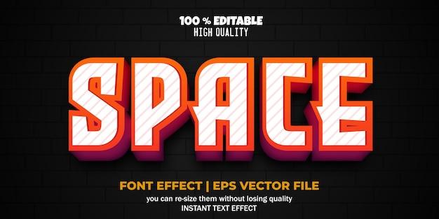 Редактируемый текстовый эффект в космическом стиле