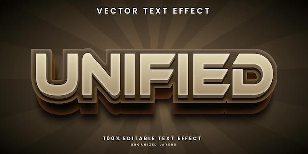 Редактируемый текстовый эффект в едином стиле