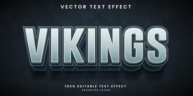 Редактируемый текстовый эффект в стиле викингов