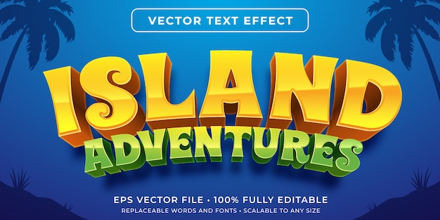 Editable text effect - island game style