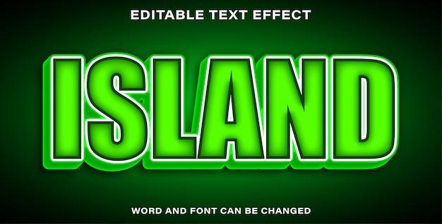 Editable text effect island