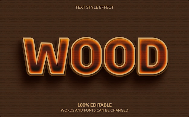 Editable text effect isolated on brown