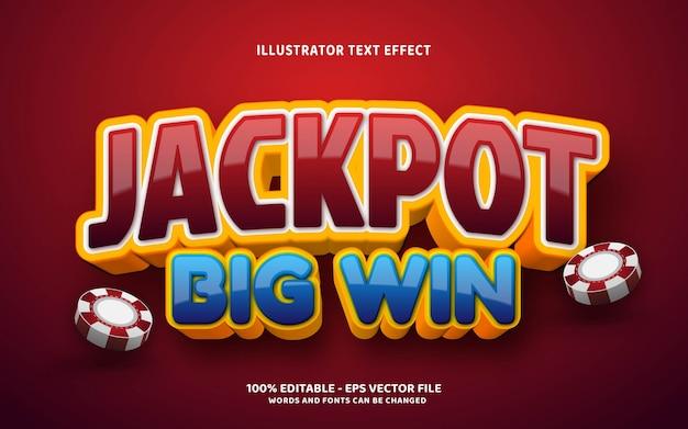Editable text effect, jackpot style illustrations