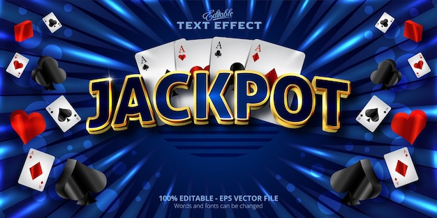 Editable text effect jackpot text