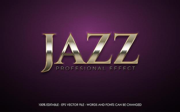 Editable text effect jazz