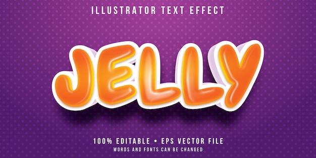 Editable text effect - jelly bean style
