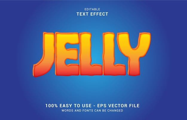 Editable text effect, jelly style