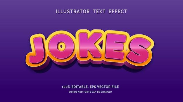 Editable text effect jokes style