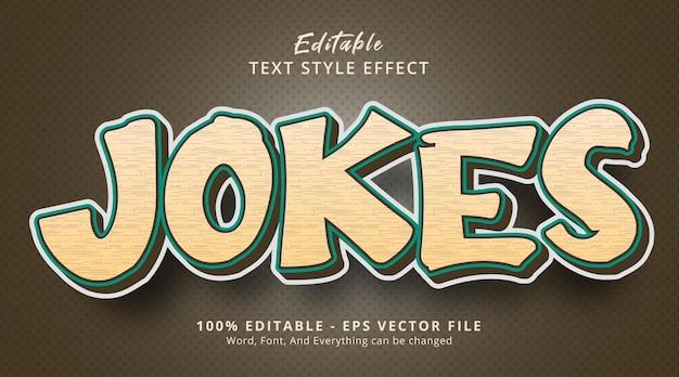 Editable text effect, jokes text on retro color combination effect