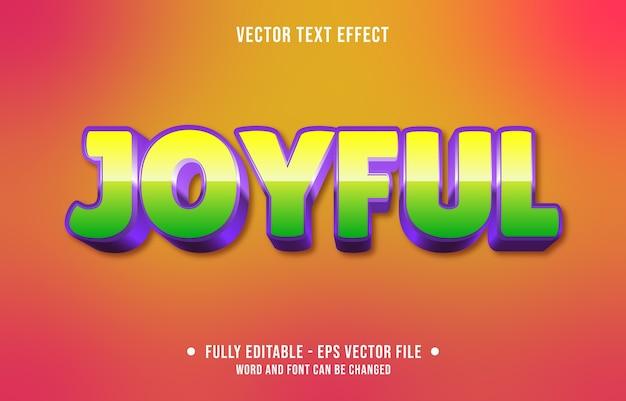 Editable text effect joyful modern style