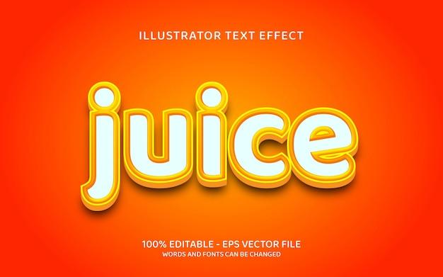 Editable text effect, juice style illustrations