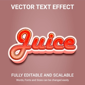 Редактируемый текстовый эффект - стиль текста сок