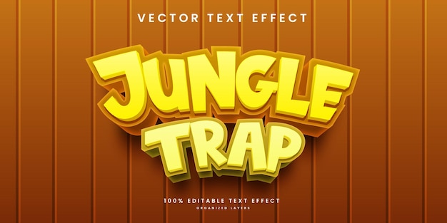 Editable text effect in jungle trap style