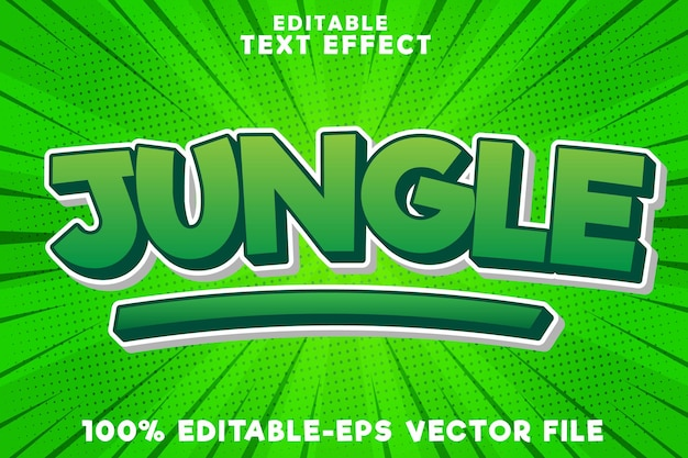 Editable text effect jungle with new comic style