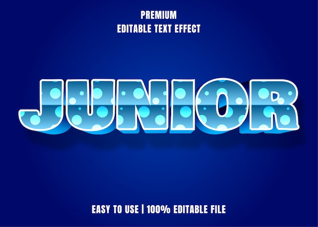Editable text effect - junior style with dotted pattern