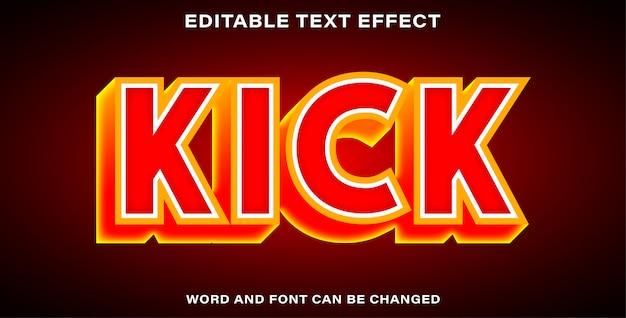 Editable text effect - kick