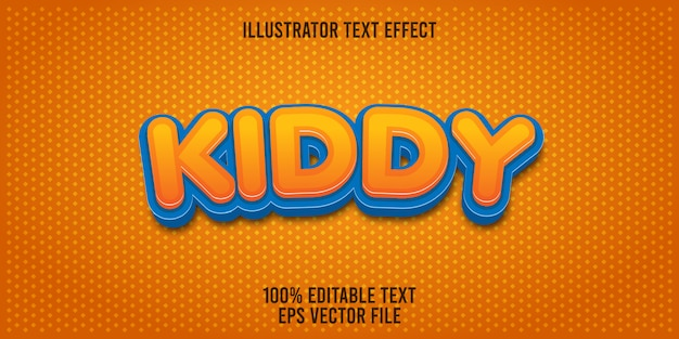 Editable text effect kiddy