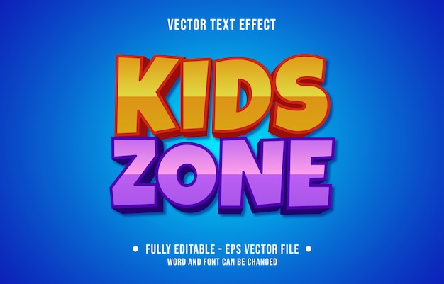 Editable text effect kids modern style