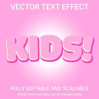 Редактируемый текстовый эффект - стиль текста kids