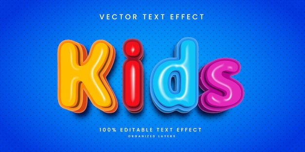 Editable text effect in kids