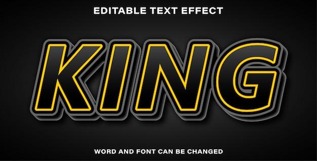 Editable text effect king