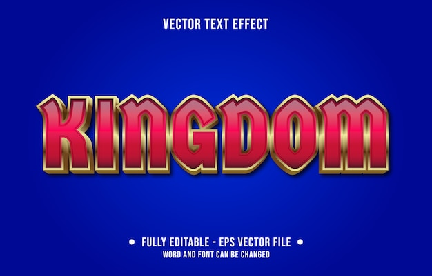 Editable text effect kingdom red modern style