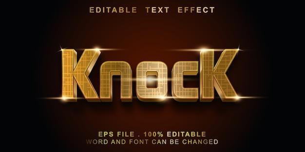 Editable text effect knock
