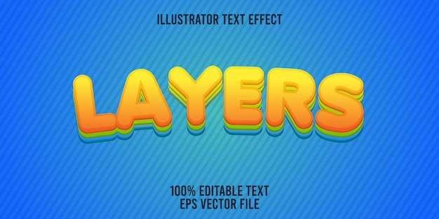 Editable text effect layers