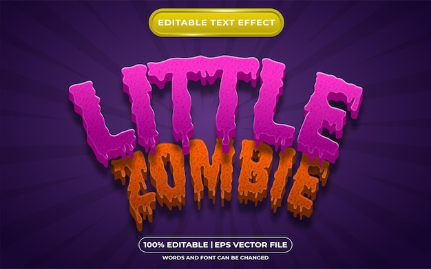 Editable text effect little zombie template style