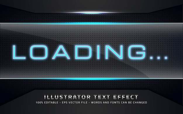 Editable text effect, loading style illustrations