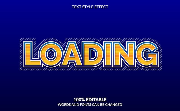 Editable text effect, loading text style