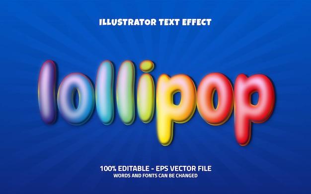 Editable text effect, lollipop style