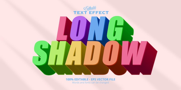 Редактируемый текстовый эффект, текст с длинной тенью
