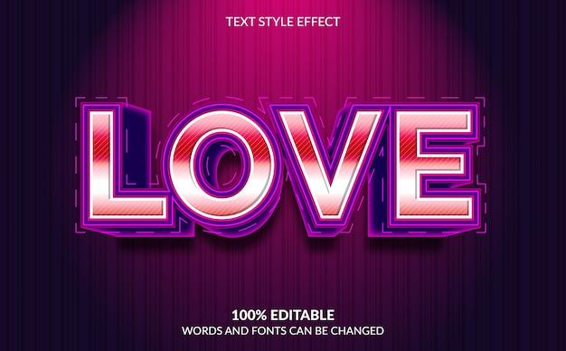 편집 가능한 텍스트 효과, 사랑 텍스트 스타일