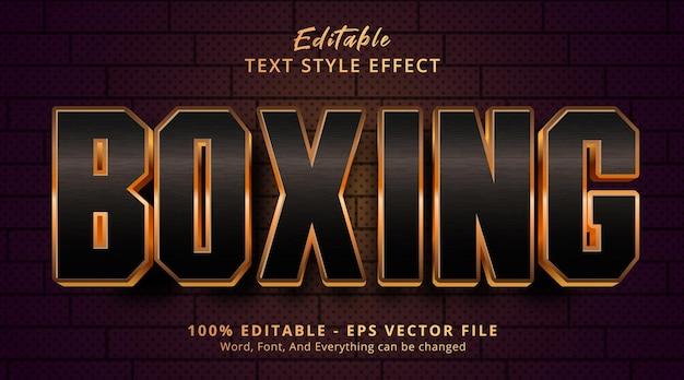 Редактируемый текстовый эффект, текст luxury boxing в стиле заголовка события