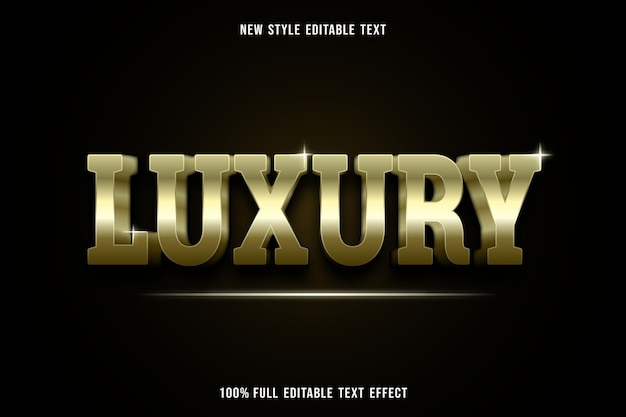 Editable text effect luxury in gold