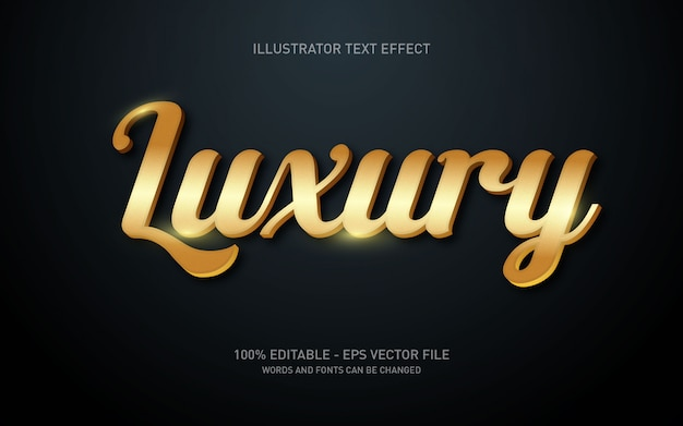 Editable text effect, luxury style illustrations