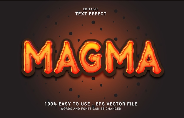 Editable text effect, magma style