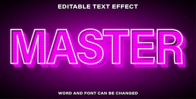 Editable text effect master