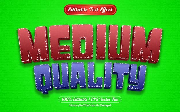 Редактируемый текстовый эффект среднего качества в шаблоне стиля