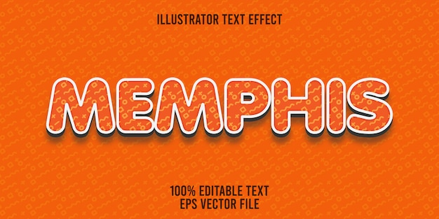 Editable text effect memphis