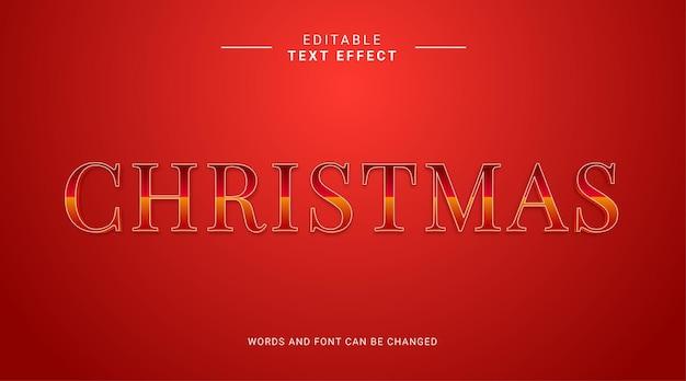 Редактируемый текстовый эффект с рождеством элегантный стиль и элегантный цвет золота