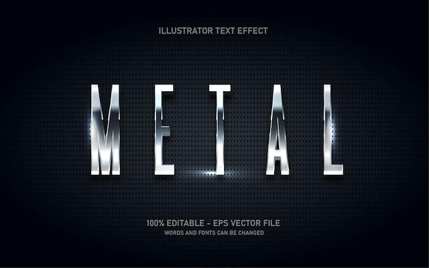 Редактируемый текстовый эффект, иллюстрации в стиле металла