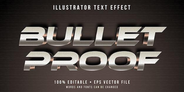 Editable text effect - metallic headline style