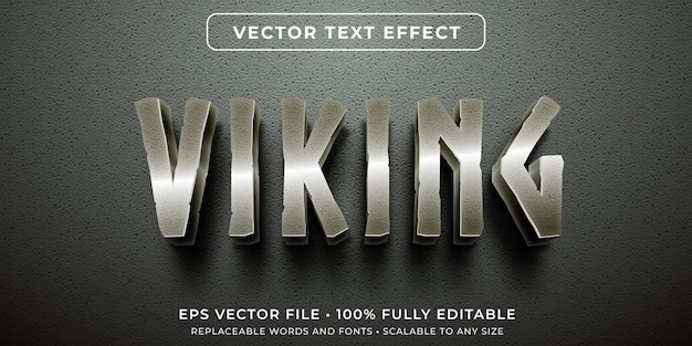 Editable text effect in metallic old characters style