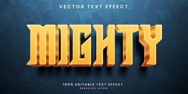 Editable text effect in mighty style