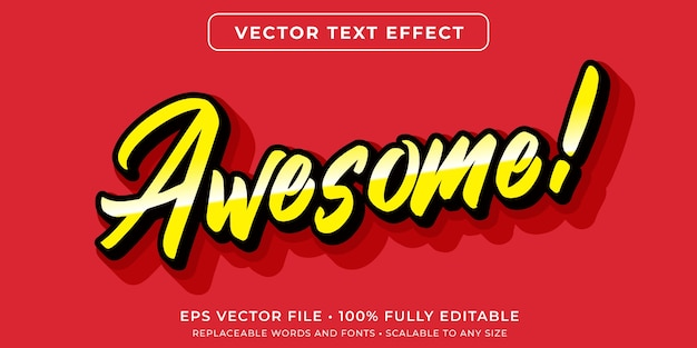 Editable text effect in minimalist script style