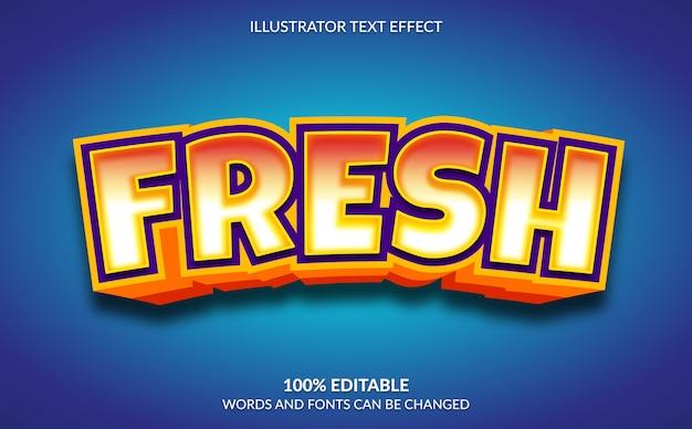 편집 가능한 텍스트 효과, 최신 3d 신선한 텍스트 스타일